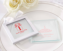 Personalized Glass Coaster-Set of 12 (Birthday Designs)