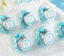 Mini Glass Personalized Favor Jar (Set of 12)