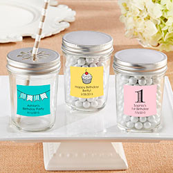 Personalized Glass Mason Jar - Birthday (Set of 12)