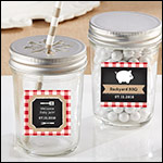 Personalized Mason Jar - BBQ (Set of 12)