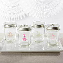 Personalized Printed Glass Mason Jar - Cheery and Chic (Set of 12)