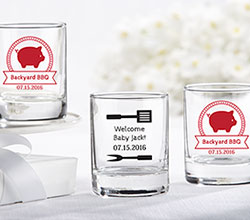 Personalized Shot Glass/Votive Holder - BBQ