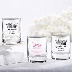 Personalized Shot Glass/Votive Holder- Little Princess