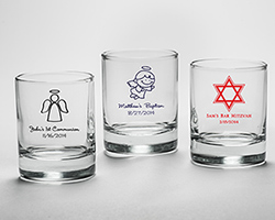 Personalized Shot Glass/ Votive Holder (Religious Designs)