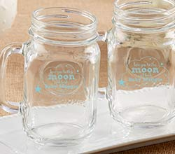 Personalized 16 oz. Mason Jar Mug - To the Moon & Back
