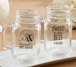 Personalized 16 oz. Mason Mug - Sweet as Can Bee