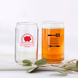 Personalized 16 oz. Beer Can Glass - BBQ