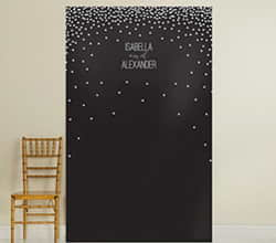 Personalized Photo Backdrop - Black and White Dots