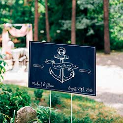 Personalized Directional Sign (18x12) - Nautical Wedding