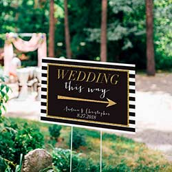 Personalized Directional Sign (18x12) - Classic Wedding